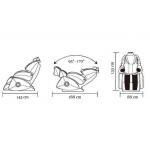 Rozměry masážního křesla