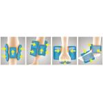 Vzduchové airbagy vytvářející masáž nohou